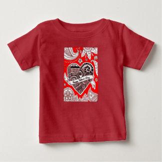 Der glückliche Vatertag 4 Baby T-shirt