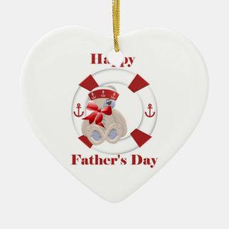 Der glückliche Vatertag (Bär) Keramik Ornament