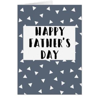 Der glückliche Vatertag - blaue Karte