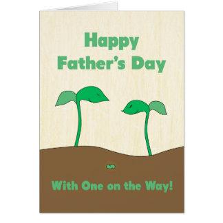 Der glückliche Vatertag, damit der Vati - grüne Karte