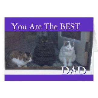 Der glückliche Vatertag, der von den Katzen ist Grußkarte