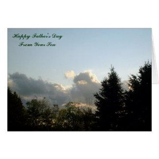 Der glückliche Vatertag, von Ihrem Sohn Karte