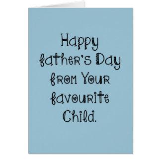 Der glückliche Vatertag von Ihrer Karte