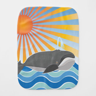 Der glückliche Wal Spucktuch
