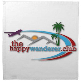 Der glückliche Wanderer-Verein Stoffserviette