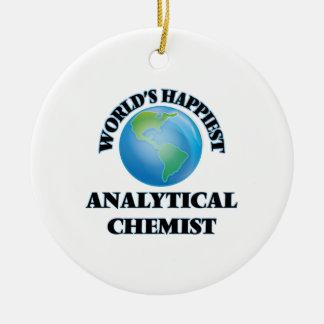 Der glücklichste analytische Chemiker der Welt Rundes Keramik Ornament