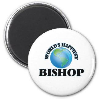 Der glücklichste Bischof der Welt Runder Magnet 5,7 Cm