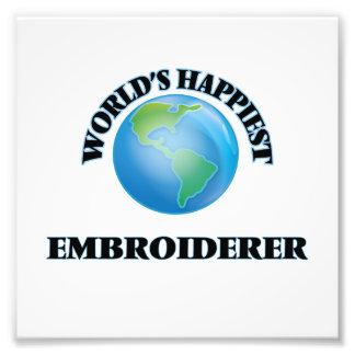 Der glücklichste Embroiderer der Welt Kunst Photo