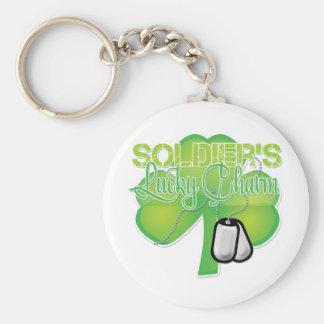 Der Glücksbringer des Soldaten Standard Runder Schlüsselanhänger