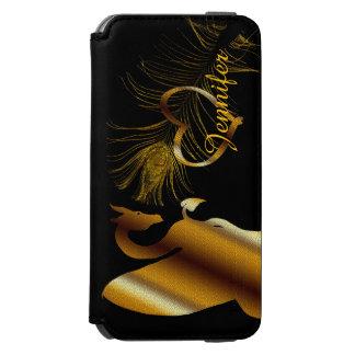 Der goldene Drache (Schwarzes) Incipio Watson™ iPhone 6 Geldbörsen Hülle