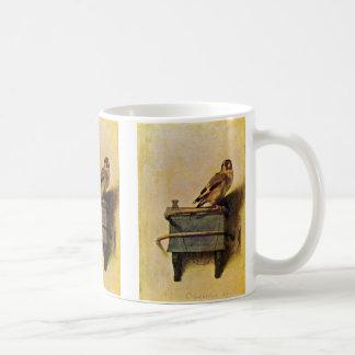Der Goldfinch., Puttertje durch Carel Fabritius Kaffeetasse