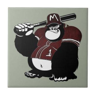 Der Gorilla-Baseballverein Fliese