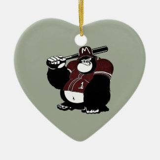 Der Gorilla-Baseballverein Keramik Ornament