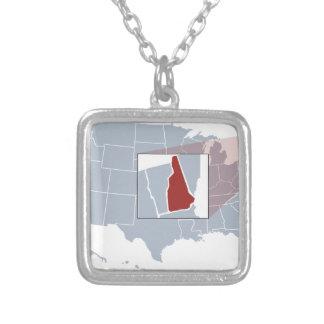 Der Granit-Staat Halskette Mit Quadratischem Anhänger