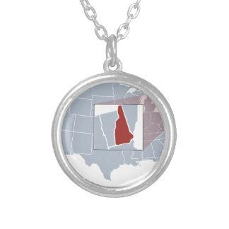Der Granit-Staat Halskette Mit Rundem Anhänger