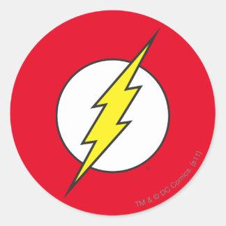 Der grelle | Blitz-Bolzen Runder Aufkleber