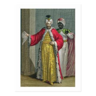 Der großartige Lord, in seinem Seraglio mit Kislar Postkarte