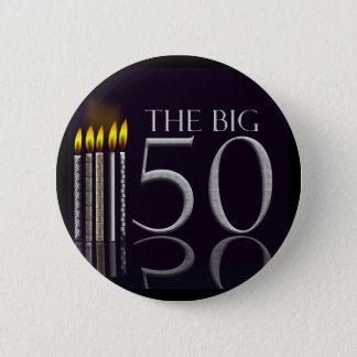 Der große 50 Geburtstags-Knopf Runder Button 5,7 Cm