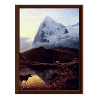 Der große Eiger gesehen vom Wengernalp durch Postkarte