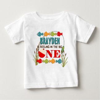 Der große fischenthema-Jungen-erste Geburtstag Baby T-shirt