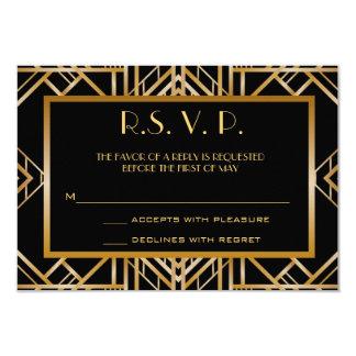 Der große Gatsby Kunst-Deko, der Antwort Wedding 8,9 X 12,7 Cm Einladungskarte