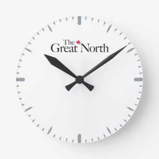 Der große Nord-KANADA-Ahornblatt-Klassiker Runde Wanduhr