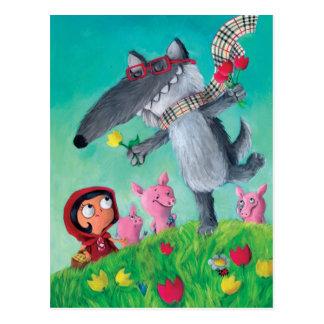Der große schlechte Wolf Postkarte