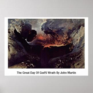 Der große Tag des Zorns der Götter durch John Mart Poster