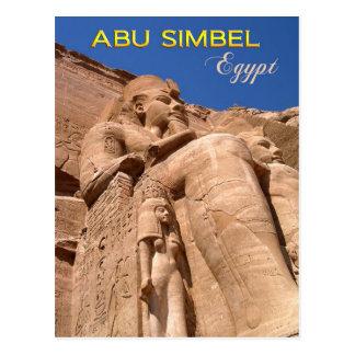 Der große Tempel von Ramesses II bei Abu Simbel Postkarte