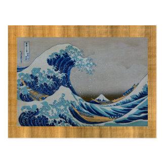 Der große Tsunami Postkarte