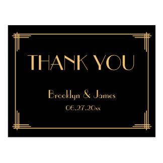 Der große Wedding Gatsby Kunst-Deko danken Ihnen Postkarte