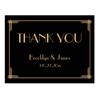 Der große Wedding Gatsby Kunst-Deko danken Ihnen Postkarten
