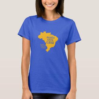 Der grundlegende blaue T - Shirt BRASILIEN der
