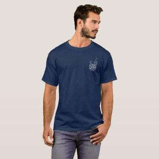 Der grundlegende dunkle T - Shirt der Männer mit