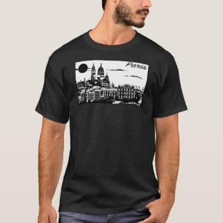 Der grundlegende dunkle T - Shirt Paris-Männer