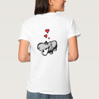 Der grundlegende T - Shirt der Frauen - Flusspferd