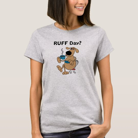 Der grundlegende T - Shirt der Kaffee-Hundefrauen