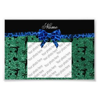 Der grünen blauer Bogen Glitter-Gymnastik des Photo