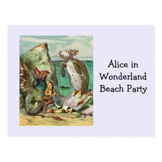 Der Gryphon Alice und die Scheinschildkröte Postkarte