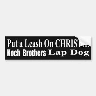 Der Günstling Öls Rückruf-Gouverneur-Chris Christi Autoaufkleber