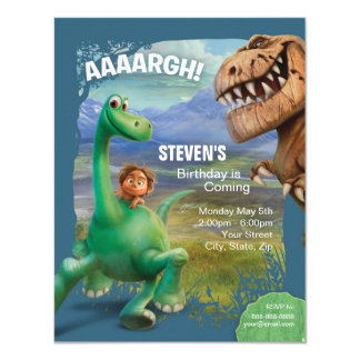 Der gute Dinosaurier-Geburtstag 10,8 X 14 Cm Einladungskarte