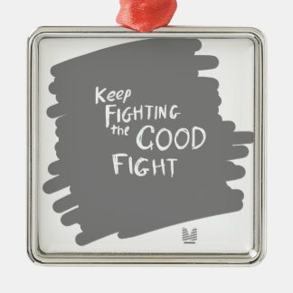 Der gute Kampf Silbernes Ornament