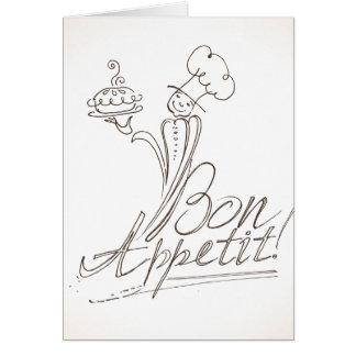 Der gute Koch sagt Bon Appetit! Gruß-Karte Karte