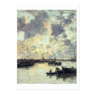 Der Hafen, c.1895 (Öl auf Platte) Postkarte