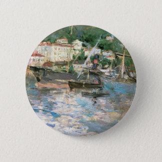 Der Hafen, Nizza durch Berthe Morisot, Vintage Runder Button 5,1 Cm