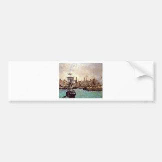 Der Hafen von Bordeaux durch Edouard Manet Autoaufkleber