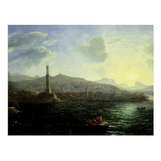 Der Hafen von Genua, Meer Ansicht Postkarte