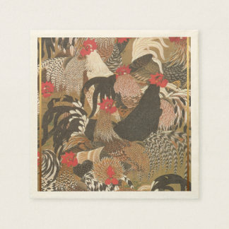 Der Hähne japanisches Malerei Papier des Papierservietten