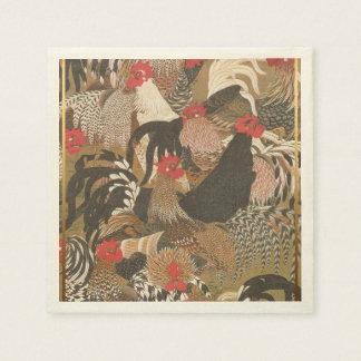 Der Hähne japanisches Malerei Papier des Serviette