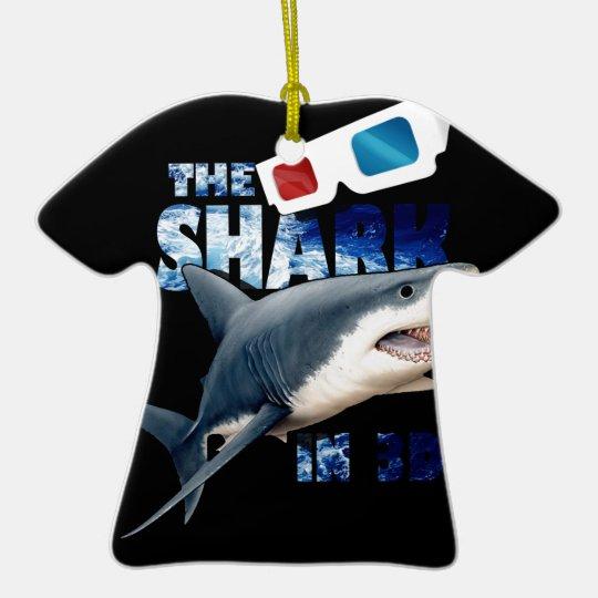 Der Haifisch-Film Keramik T-Shirt-Ornament
